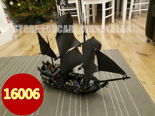 lepin Pirates of the Caribbean 16006 The Black Pearl model Building kit Block Educational Funny Set Toy kid compatiable 4184 kazi 608pcs pirates armada flagship building blocks brinquedos caribbean warship sets the black pearl compatible with bricks