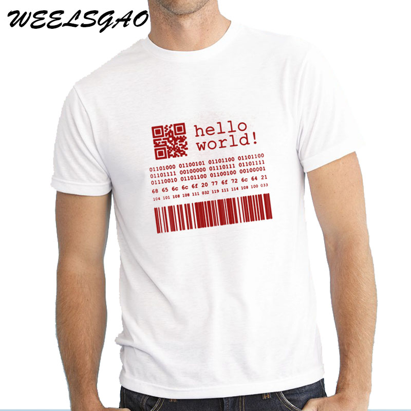 WEELSGAO Brief T shirt Männer Java Programmierer Computer Hallo Welt ...
