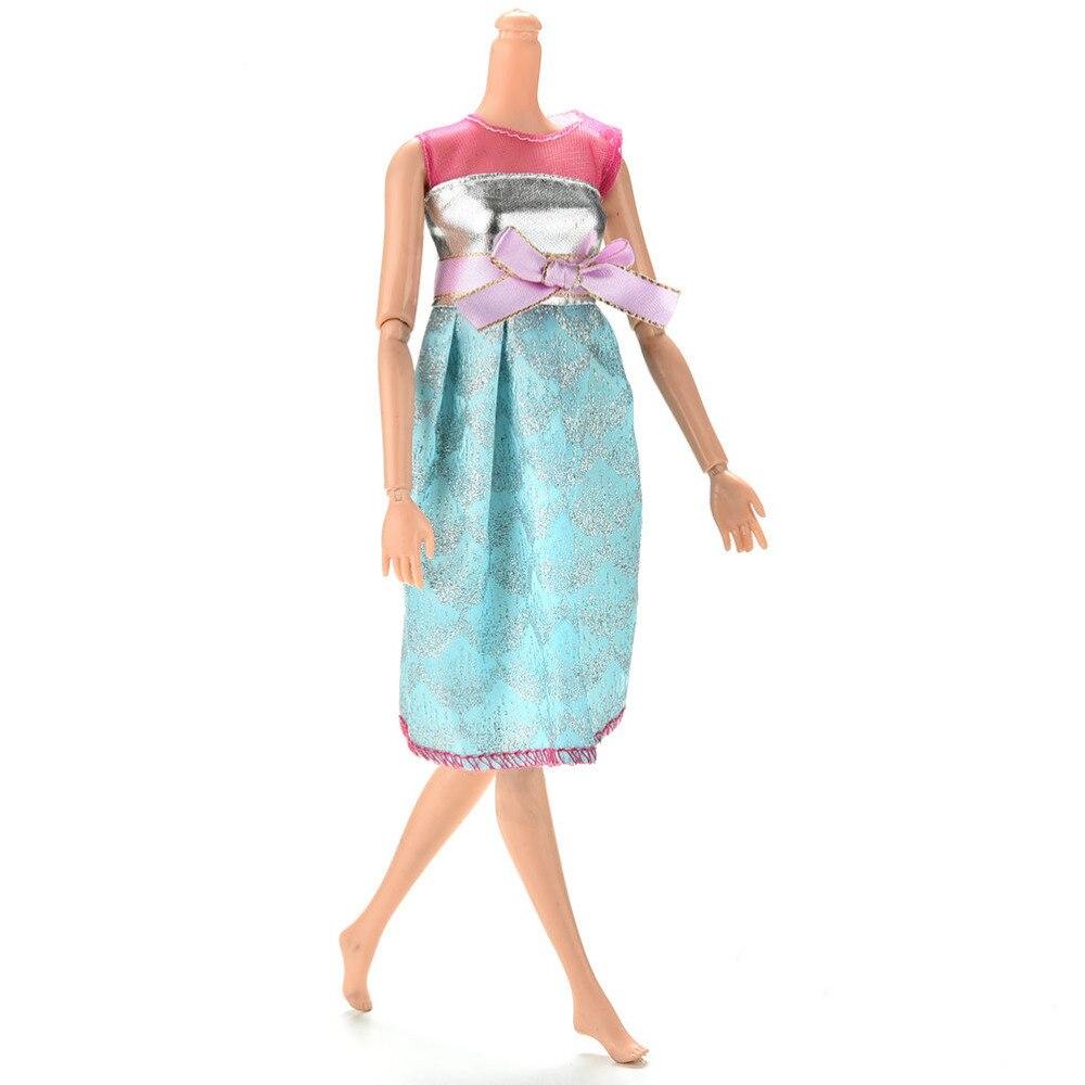 Fashion Summer Handmade Mini Doll Dress Pink Blue Grey Color ...