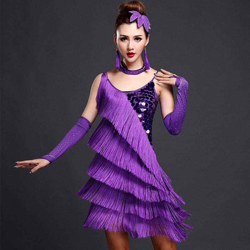 ballroom competition dresses tango adult red latin dance costumes women salsa dancewear dance