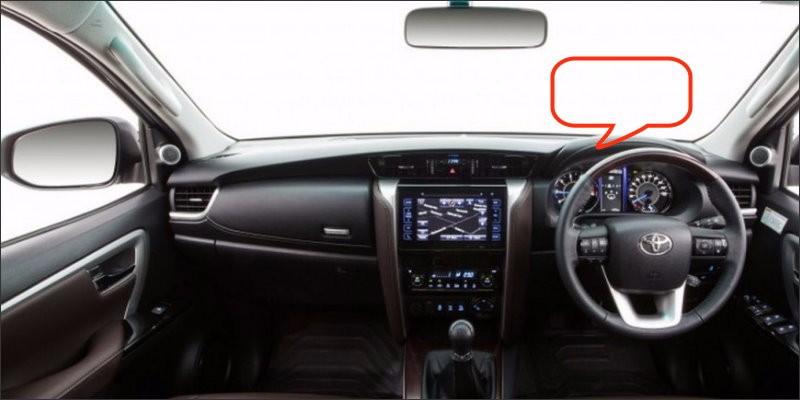 Toyota Fortuner  2016 interior