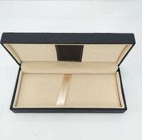 10 шт./компл. черный цвет ПУ кожа Материал Футляр для подарочной ручки Оптовая продажа высокого качества