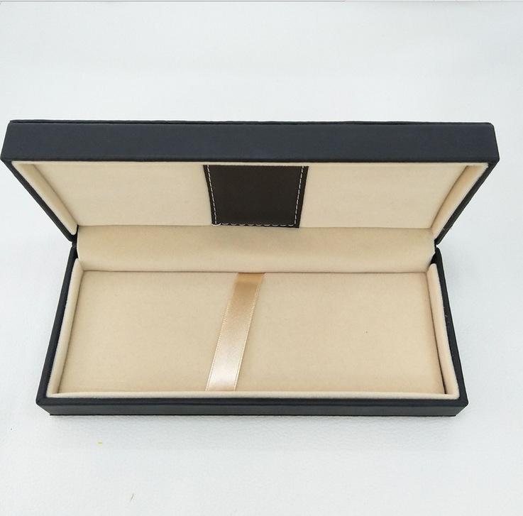 10pcs/set Black Color PU Leather Material Gift Pen Box Wholesale High Quality