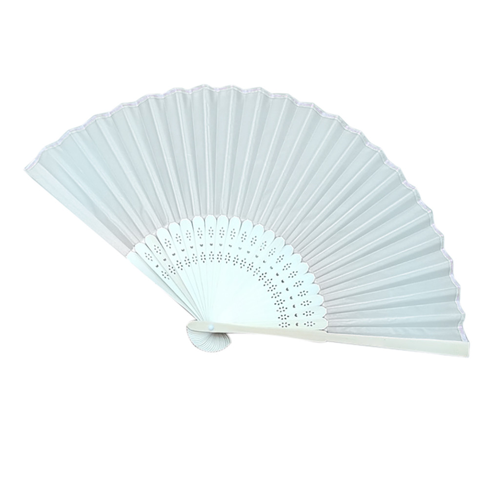 Pattern Folding fans Dance Wedding Party Lace fans Plastic Silk Folding Hand Held Fan Solid Color hand fan Gift Summer 628(China)