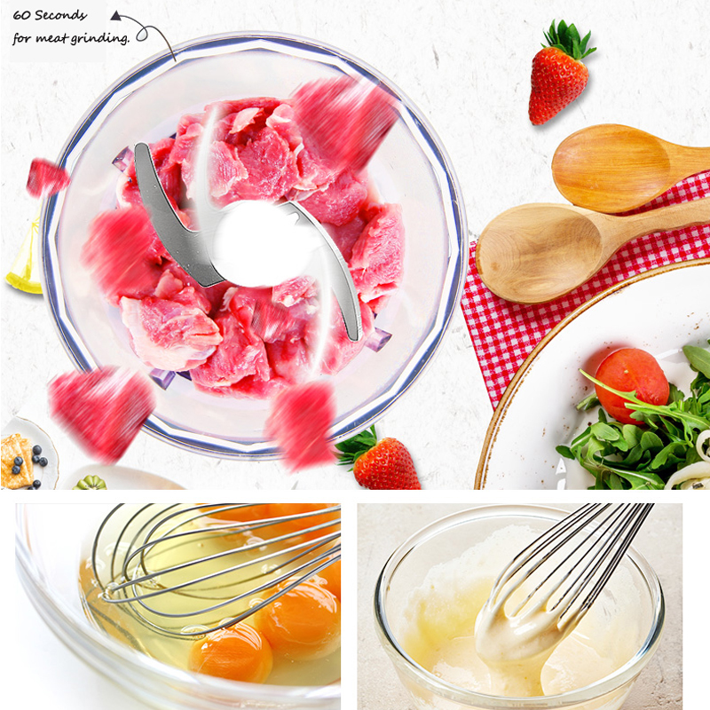 Image 4 - 1100W High Speed Immersion Hand Stick Blender Mixer Includes 500mL Chopper and Whisk 600mL Smoothie Cup Stainless Steel Blades-in Blenders from Home Appliances