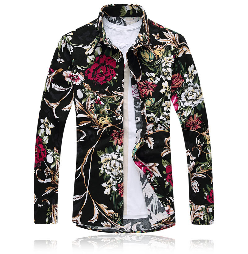 Aliexpress.com : Buy 2017 Men Luxury Brand Shirts Floral Shirts ...