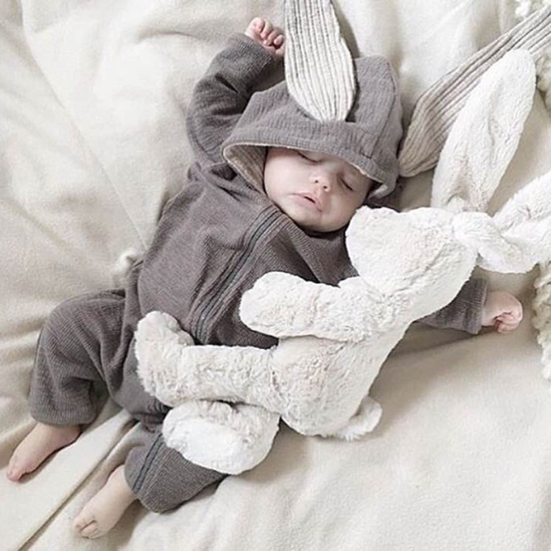 New Baby Rabbit Ear Romper 0-18M Boys Girls Lovely Cotton Clothes Infant Kids Soft High Quality Newborn Winter Sleep Ins Romper winter girls baby boys sneakers first walker shoes small footwear for babies toddler lovely sports new year baby walker 70a1027