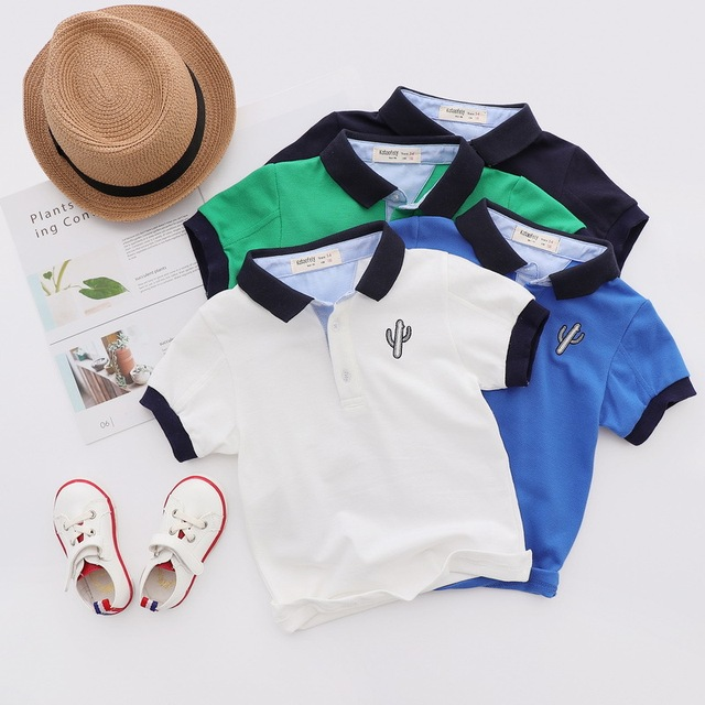 bce8d8949 Casual Baby Clothing Summer Cotton Print Baby Boys Polo Shirts ...