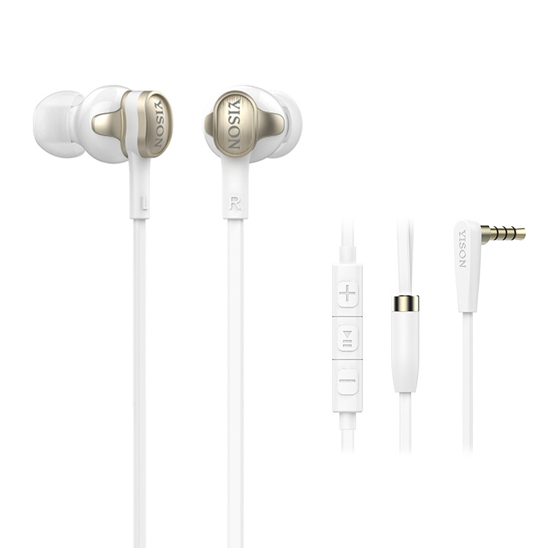 2017 YISON I80 factory direct HIFI earphones dual drive unit drawing in ear style Portable earphone Noise Cancelling fashion гарнитура yison d7 black