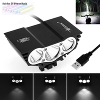 SolarStorm Outdoor X3 XM L T6 LED 4 Mode Cool White Light Color Bicycle Head Light