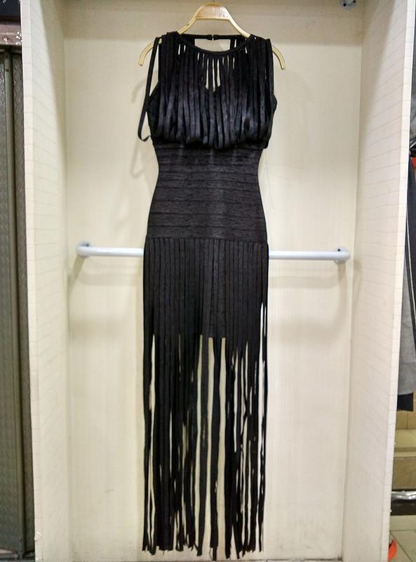 2019 nouveau Sexy soirée gland or imprimé robe Occasion spéciale robe longue bal robes de soirée célébrité Club Bandage robe - 6