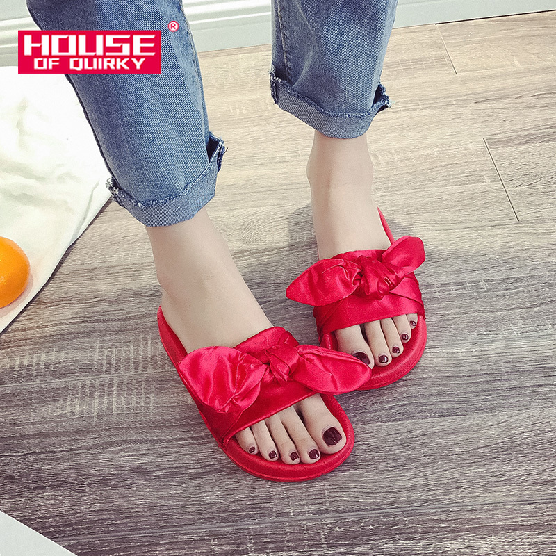 Female Sandals Summer Sexy Bowknot Open Toe Platform Shoes Women Outdoor Flats Shoes Woman Pure Color