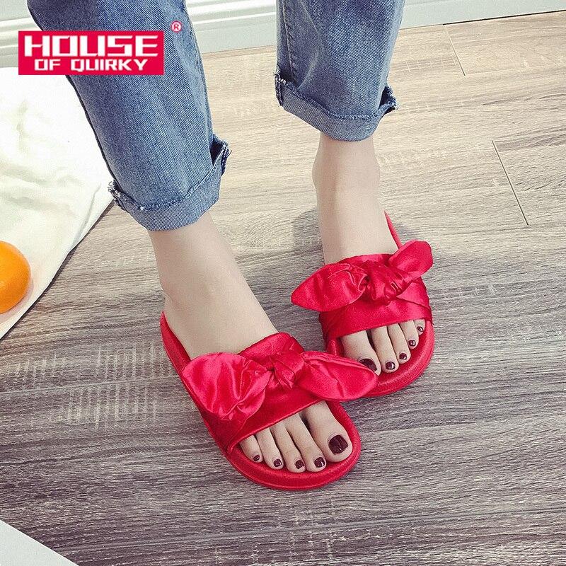 Female Sandals Summer Sexy Bowknot Open Toe Platform Shoes Women Outdoor Flats Shoes Woman Pure Color