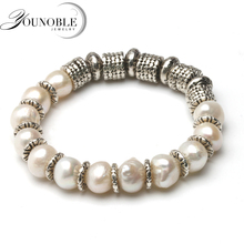 Beautiful trendy natural pearl bracelets 925 silver,freshwater pearl bracelet baroque fine jewelry for women birthday gift nymph freshwater pearl bracelets fine jewelry near round natural pearl bangles for women white trendy anniversary gift [s313]
