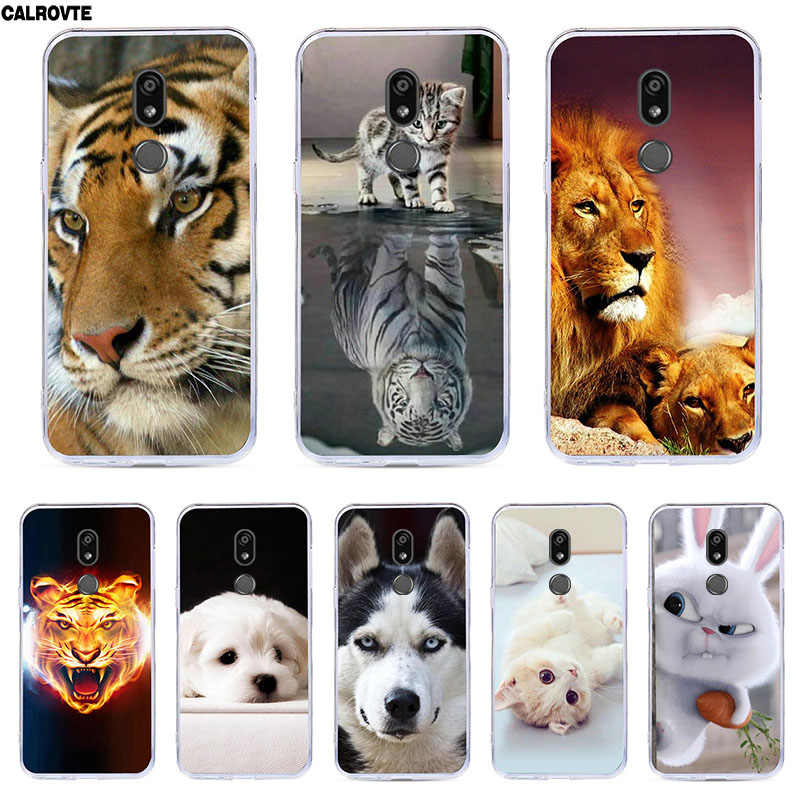 "For LG K40 Cover 5.7"" Silicone TPU Soft Cute Cartoon Case for LG K40 K 40 Back Covers Shell Bags for Fundas LG K40 Protective"