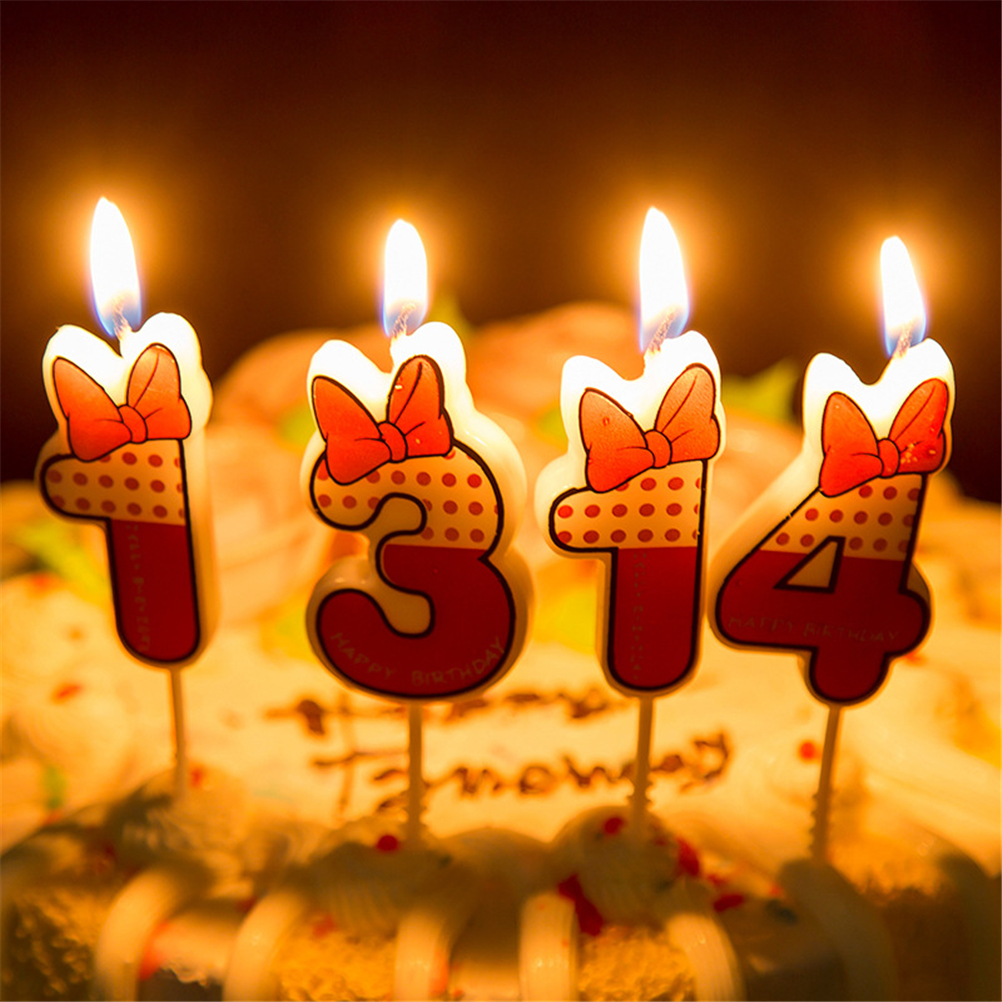 Cute Boys Girls Happy Birthday Candle Design 5cm Height 0 9 Anniversary Cake Numbers Age Party Supplies Decoration Gift In Candles From Home Garden On