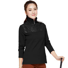 Brand POLO Golf Apparel Autumn Women Long Sleeve T-shirt Cotton Pullovers Thickening Coat Zipper Collar Sports Clothes