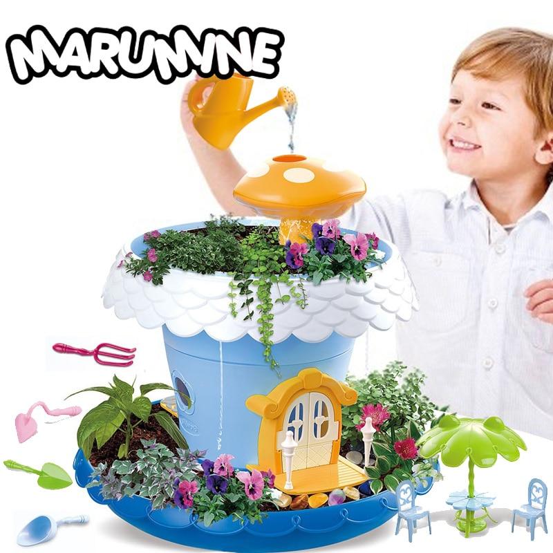 Marumine tige jouets Science et éducation plantation plantes en pot semblant jouer éducatif apprentissage bricolage jouet pour enfants filles garçons