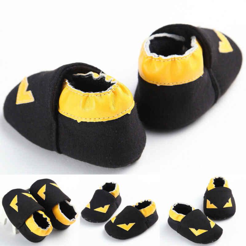 0-18M Toddler Baby Shoes Boy Girl Newborn Anti-slip Breathble Batman Soft Sole Crib Prewalker Sneaker