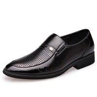 Summer New Men's Business Dress Shoes Men's Hollow Set Foot Hole Shoes Breathable Men's Casual Shoes