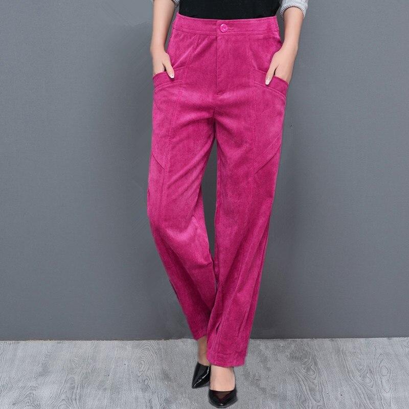 Womens Harem   Pants   2017 New Spring and Summer Women Vintage Loose Trousers Female Casual Corduroy   Pants  /Ladies   wide     leg     pants