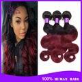4 bundles brasileño onda del cuerpo ombre extensión del pelo 6a hair brasileño onda del cuerpo barato del pelo humano 100 g bundles no shed