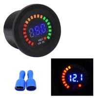 Pack of 1 Color Screen Volt Meters Led Digital Voltmeters 12v Voltage Gauges 5 15v Black for Motorcycle Auto Boat Yacht