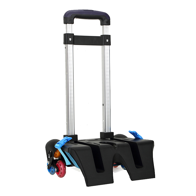 ФОТО Dragged Foldable Trolley Accessories Stairs Flashing Color Wheel Trolley With 6 Wheels