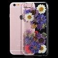 2016 Новый Для iPhone 6 6 S Для iPhone6 Plus/6 S Плюс Case Подлинная Высушенный Цветок Ручной Работы Крышка Прозрачный Телефон Case i6 4.7