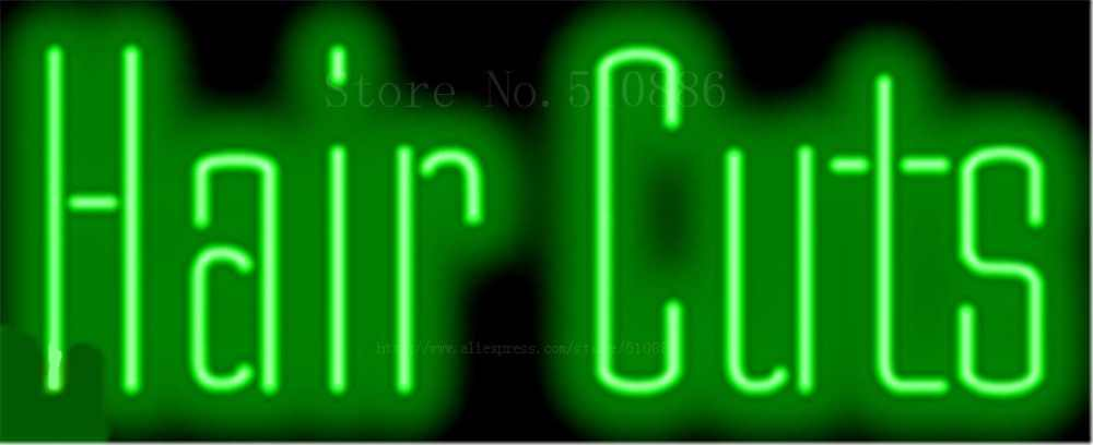 """Hair Cut Barber Salon Rohr Leuchtreklame Handcrafted Zeichen Licht Display Club Pub Shop store Geschäfts signage Schild 17 """"x 14"""""""