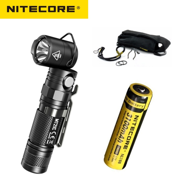 NITECORE MT21C Torch Anglelight CREE XP-L HD V6 1000LM 90Degree Adjustable Angle Head  LED Flashlight By 18650 Battery