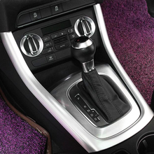 ABS Plastic For Audi Q3 2012 2013 2014 2015 Car Styling accessories Car gear shift knob frame panel Cover Trim sticker 1pcs for audi q3 2012 2015 abs chrome car front fog lamps frame decorative exterior stickers cover trim car styling accessories 2pcs
