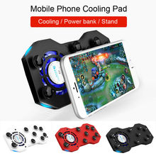 Mobile Phone Cooler Cooling Fan Holder Stand Gamepad With Power Bank Mobile Phone Radiator