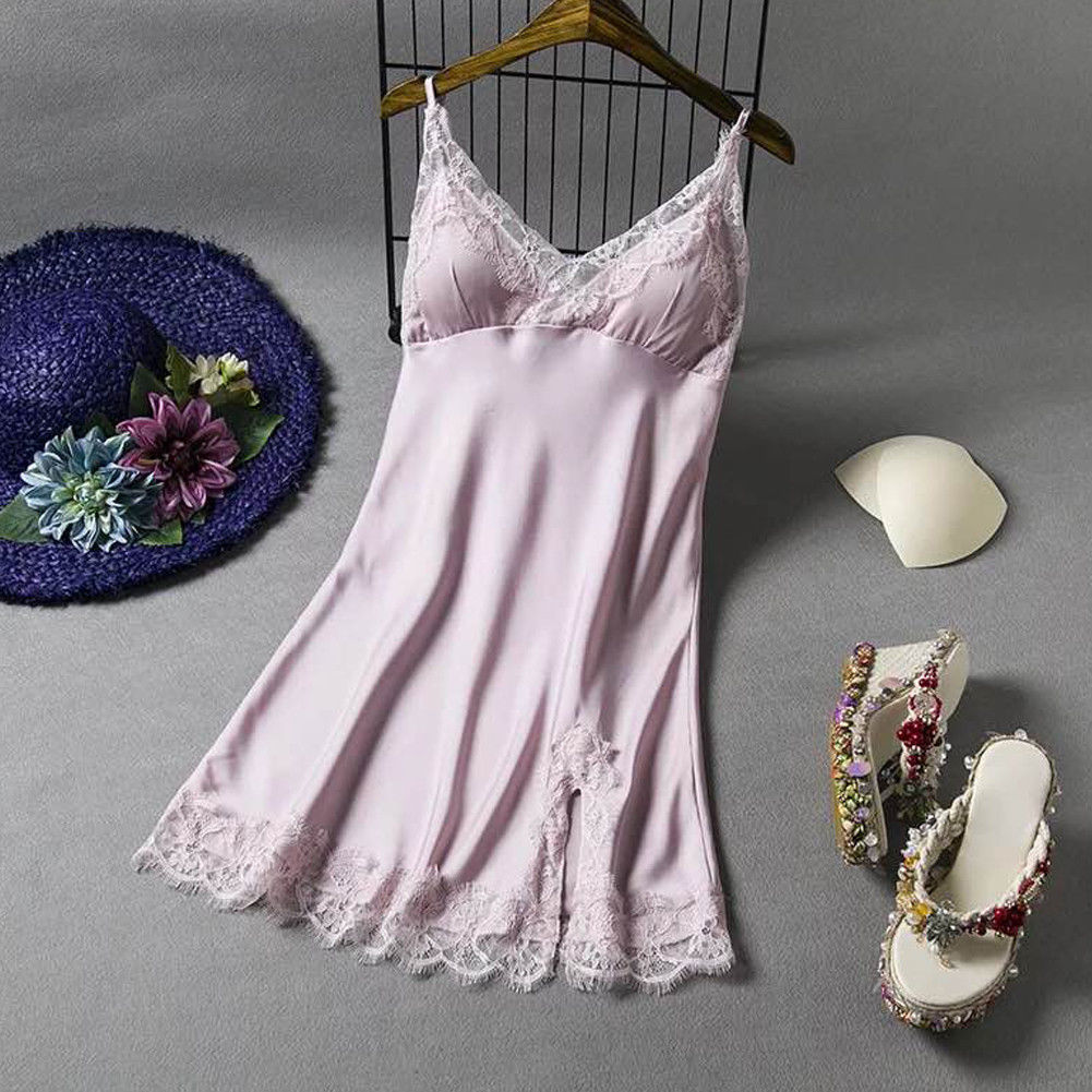 Nightwear Summer Women Lingerie G-String-Dress Lace Fashion Sleeveless Babydoll