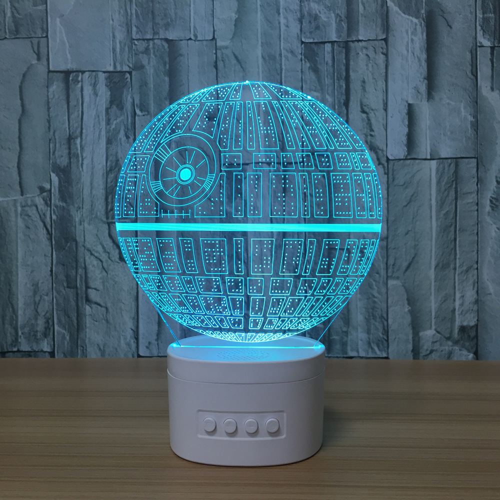 Star Wars 3d Led Lamp Usb Colorful Table Lamps Yoda R2d2