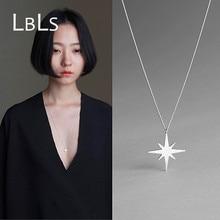 LBLS 925 Sterling Silver Long Necklace Star Long Necklace Chain sterling-silver-jewelry necklaces & pendants for Women Bijoux