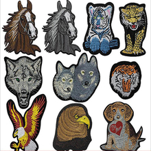 Animal Mammal Wolf Big Iron On Patches Sewing Embroidered Applique for Jacket Clothes Stickers Badge DIY Apparel Accessories i mammal