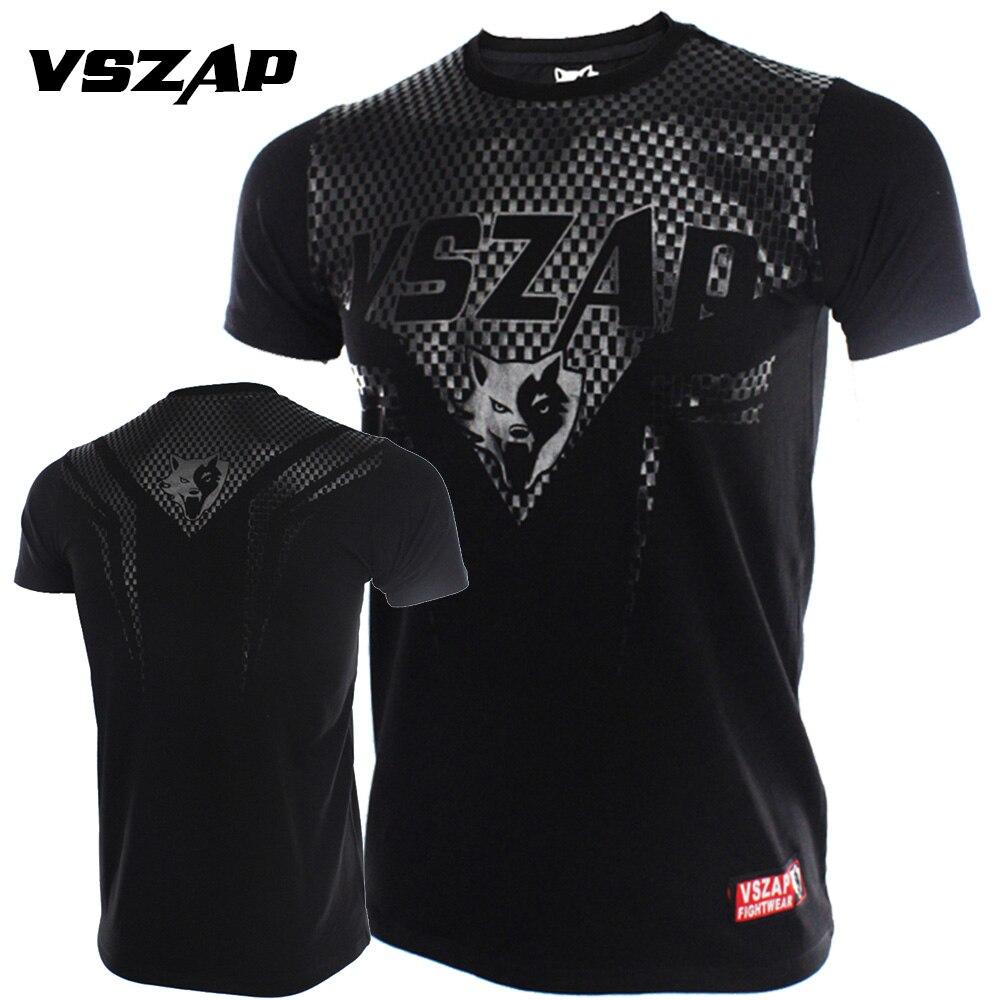 VSZAP Bangkok Boxing MMA T Shirt Gym Tee Fighting Martial Arts Fitness Training Wolf