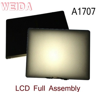 WEIDA 95% New LCD 15.4 For Macbook Retina A1707 Display Touch Screen Full Complete Assembly Replacement A1707 Silver/Grey wholesale new laptop a1707 lcd led screen for macbook pro pro 15 4 a1707 lcd display screen panel late 2016 mid 2017 year