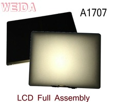 WEIDA 95% New LCD 15.4″ For Macbook Retina A1707 Display Touch Screen Full Complete Assembly Replacement A1707 Silver/Grey