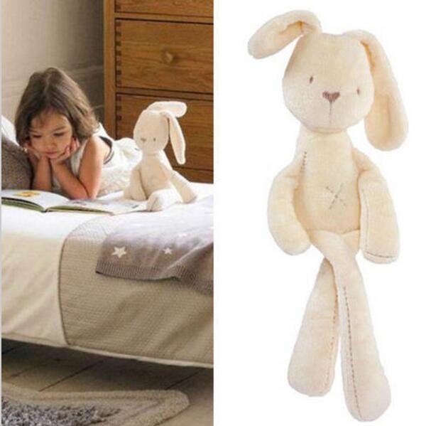 Venda quente 54*11 CM Bonito do Coelho do Sono Conforto Boneca de Brinquedo de Pelúcia Do Bebê Caçoa os Animais