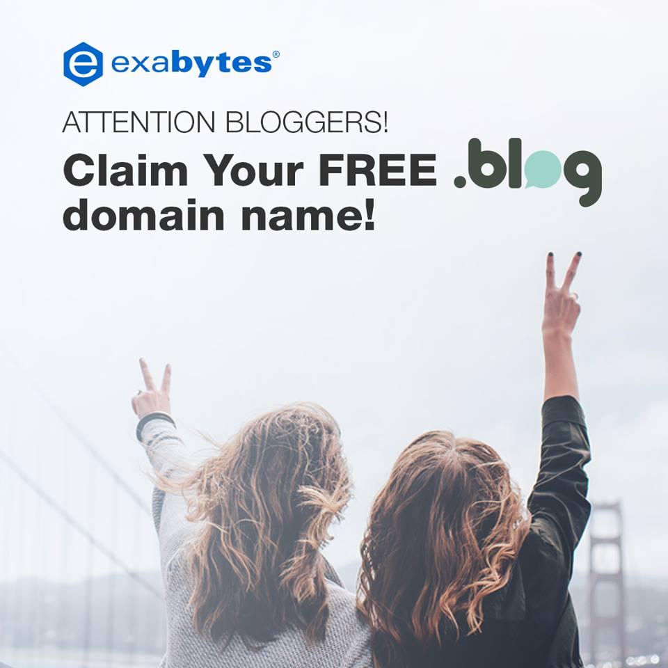 Exabytes:提供免费的.BLOG域名注册