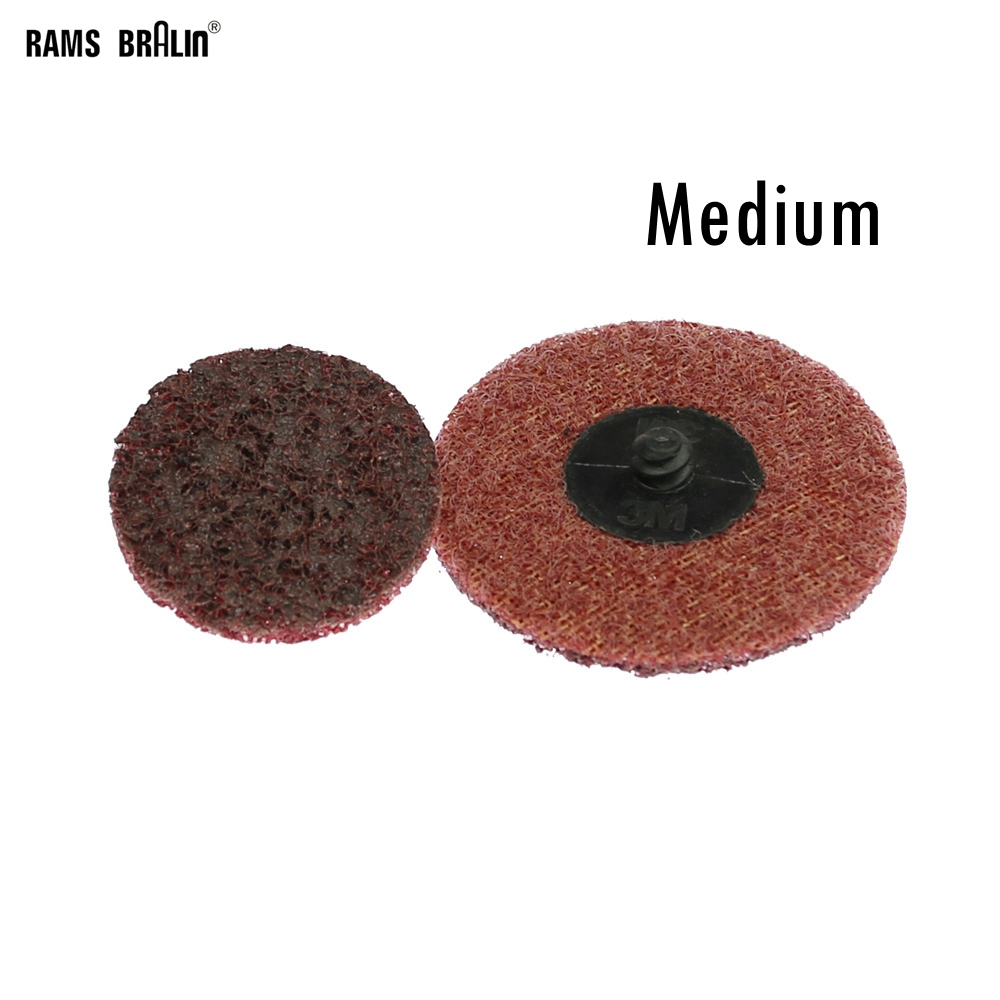 1 Piece Roloc Non-woven Sanding Disc Coarse To Fine Quick Change Polishing Pad For Metal Finish