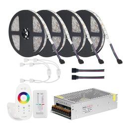 DC12V 5050 LED Strip RGB RGBW RGBWW 5M 10M 20M Set LED Strip 5050 RGB 60LEDs/m + Touch Remote Controller+ 12V Power adapter
