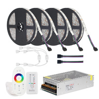 DC12V 5050 LED Strip RGB RGBW RGBWW 5M 10M 20M Set LED Strip 5050 RGB 60LEDs/m + Touch Remote Controller+ 12V Power adapter