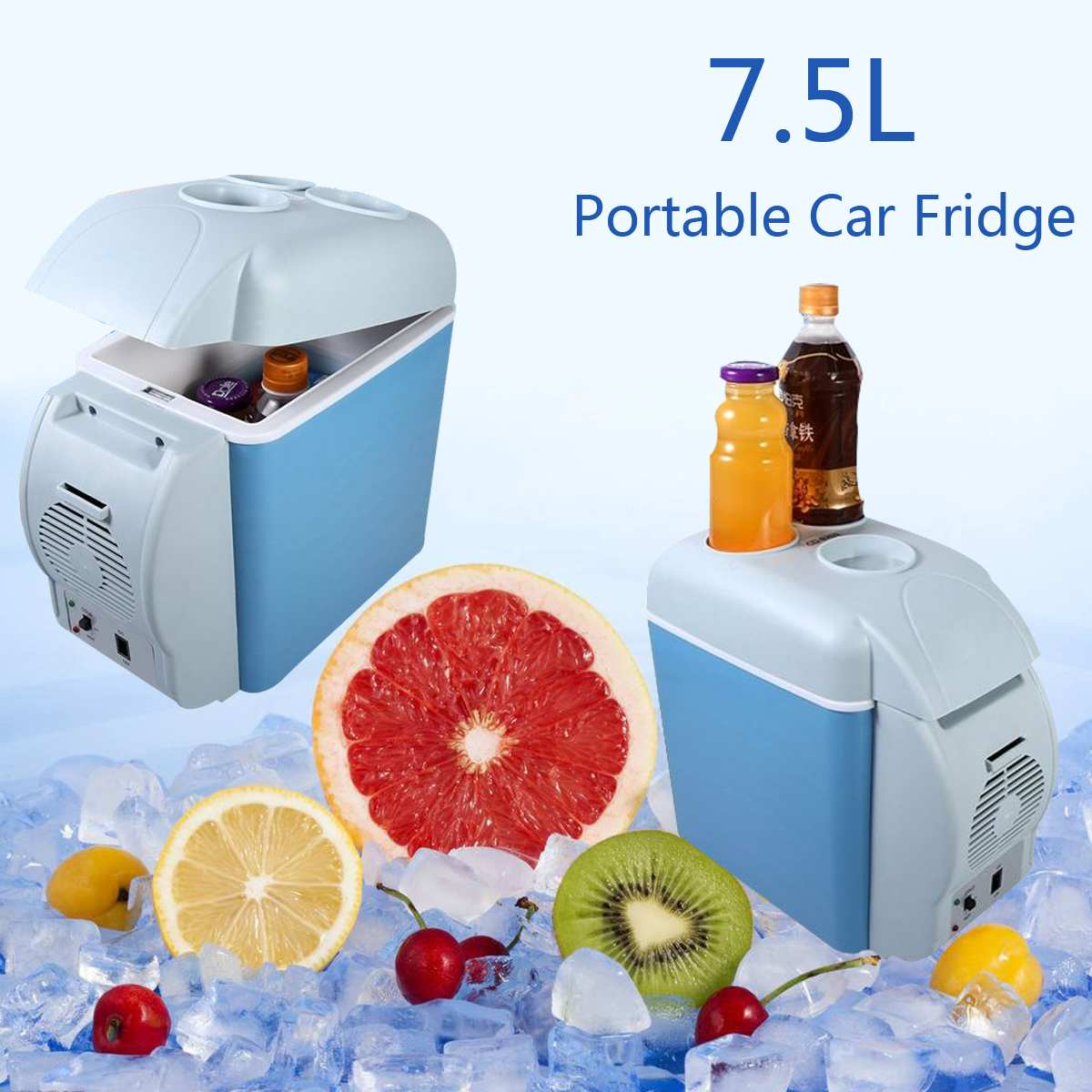 7.5L 3-70 Centigrade Protable Mini Car Fridge Refrigerator Cooler Warmer For Home Travel Cooler Freezer Warmer 12/24V(China)