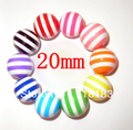 Free shipment! 50 Pcs Mixed Color Chunky Beads Style Large 20mm Round Striped Resin Loose Beads (W02759)