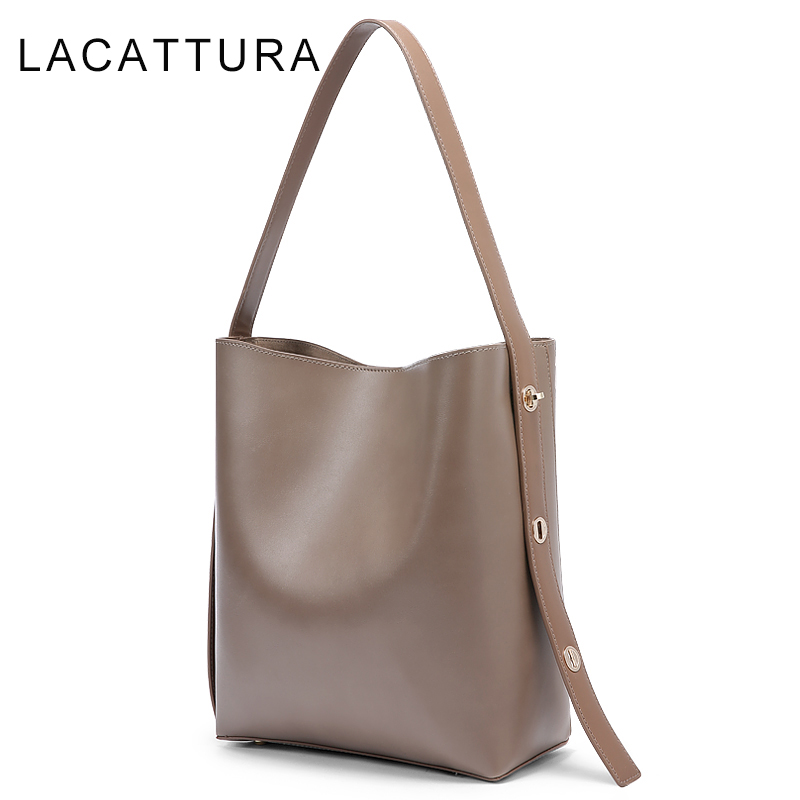LACATTURA 2017 Hot Sale Luxury Brand Design Women Handbag High Quality All Match Casual Composite Tote Large Capacity Bucket Bag high quality tote bag composite bag 2