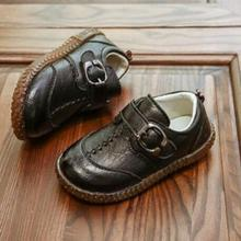 e0e34aa7ce03 Kids Toddler Baby Little Boys Flats Brown Black Red England Leather Shoes  For Boys School Shoes