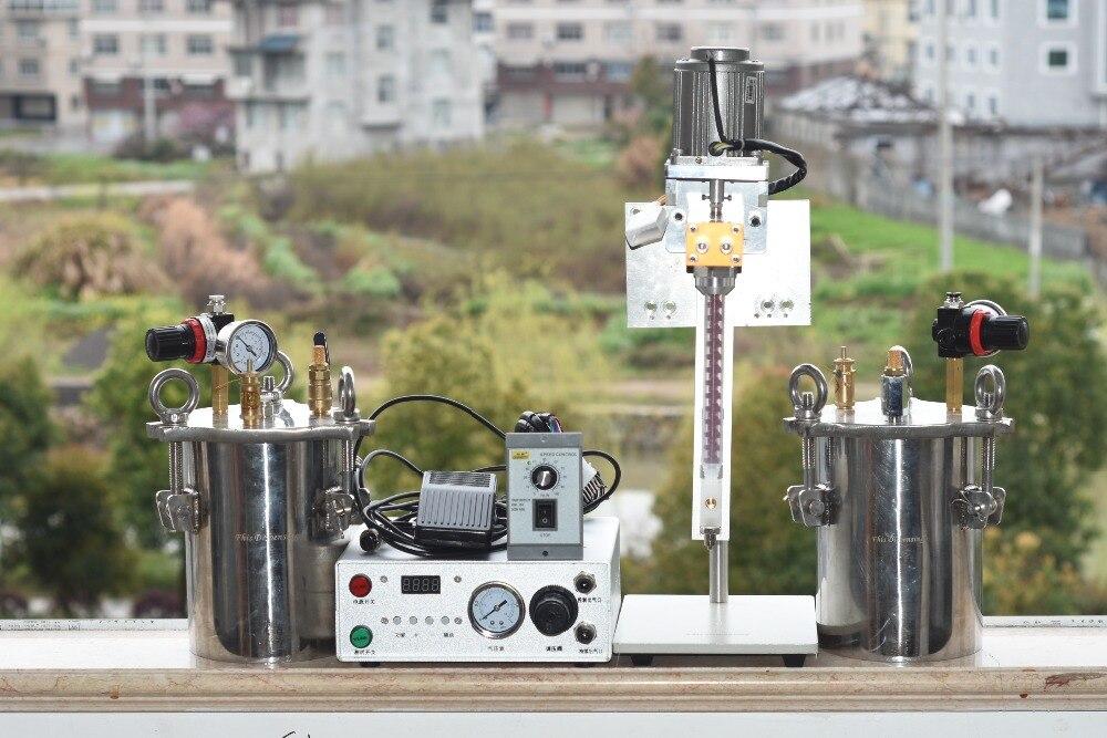 Automatique AB double-liquide d'irrigation machine machine de distribution avec précision vanne de distribution réservoir sous pression pour époxy rempotage